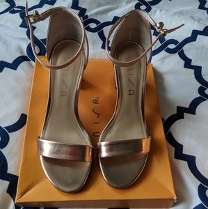 Unisa rose gold heeled sandals 8.5